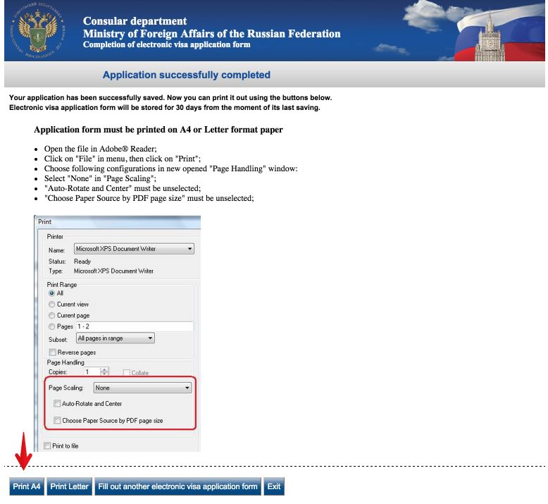 Visa application form Russia - USA Citizens 15