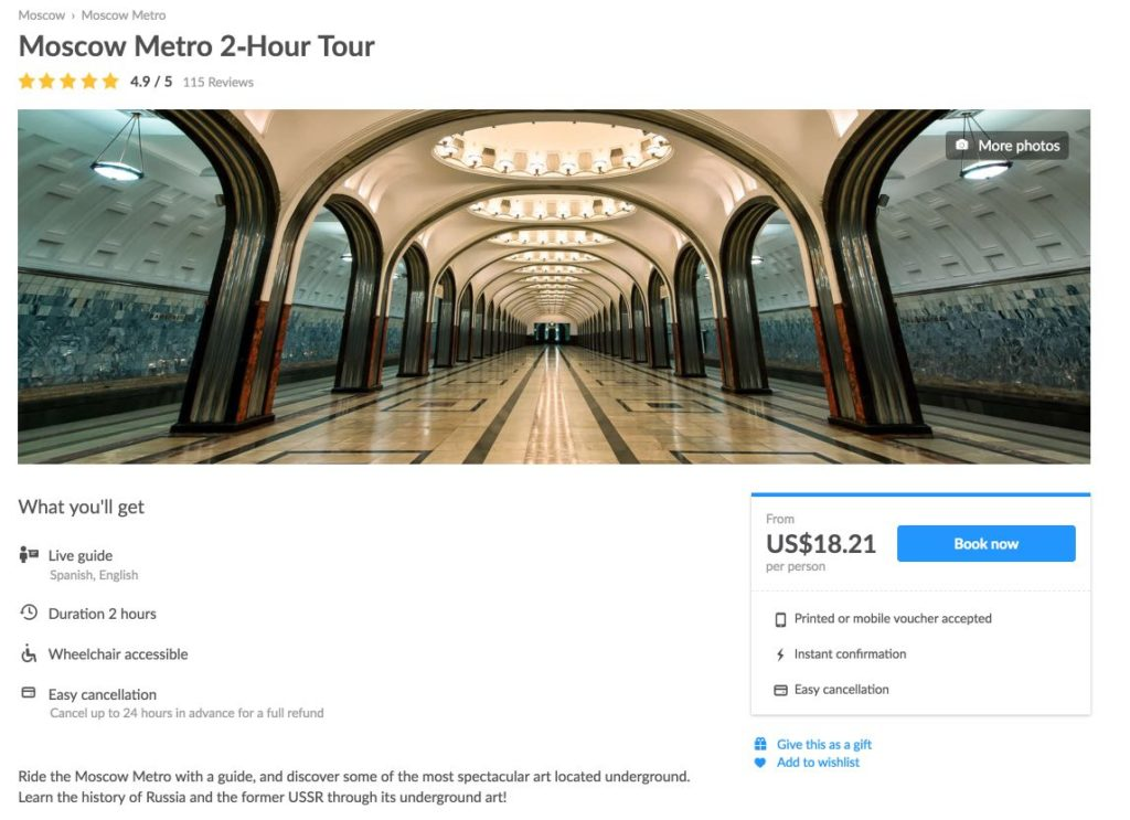 Moscow Metro Guided Tours