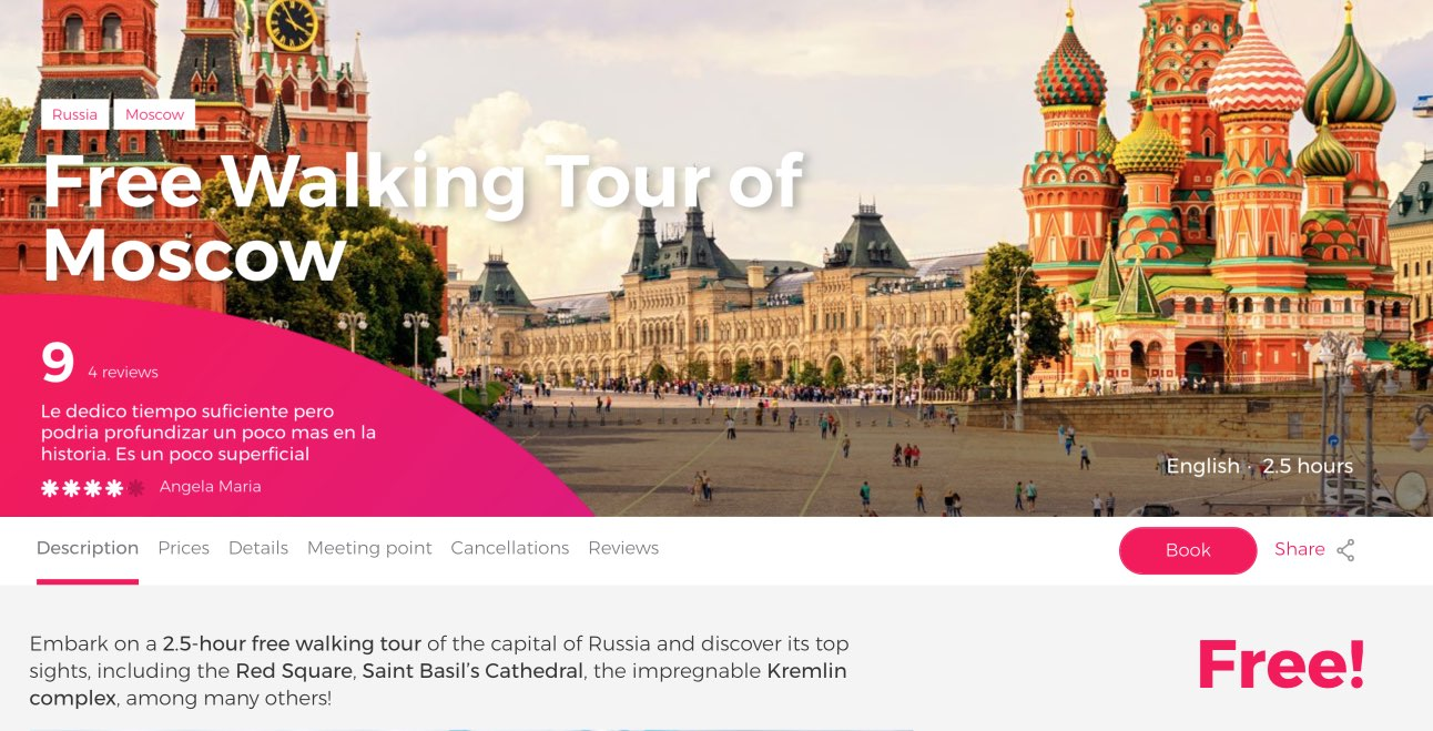 Free Walking Tour of Moscow - Book Online