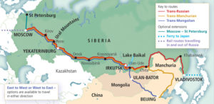 Trans-Siberian Route map