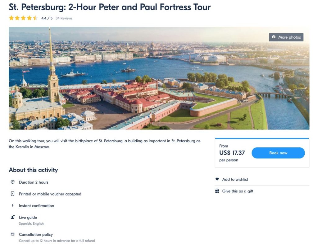 2-Hour Peter and Paul Fortress Tour - St Petersburg - Russia