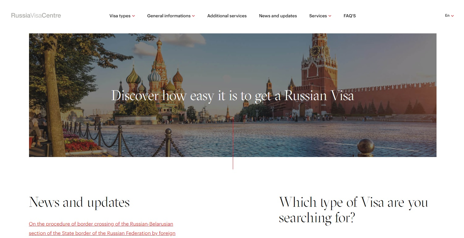 Russia Visa Center in USA and Canada - New Company from Schwitzerland